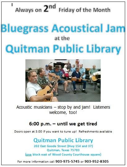 Bluegrass Jam Master Flier