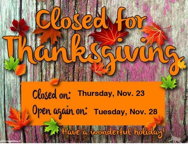 Closed Thanksgiving.jpg