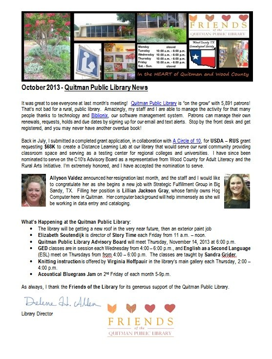 FOL Newsletter Oct2013